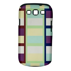Maximum Color Rainbow Brown Blue Purple Grey Plaid Flag Samsung Galaxy S III Classic Hardshell Case (PC+Silicone)