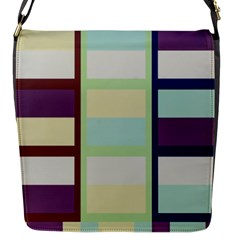 Maximum Color Rainbow Brown Blue Purple Grey Plaid Flag Flap Messenger Bag (S)
