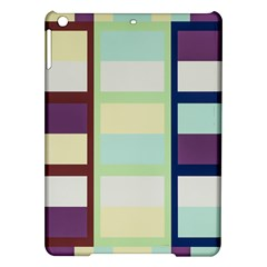 Maximum Color Rainbow Brown Blue Purple Grey Plaid Flag iPad Air Hardshell Cases