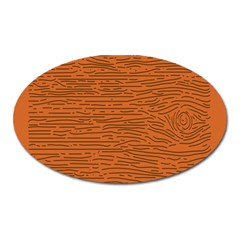Illustration Orange Grains Line Oval Magnet