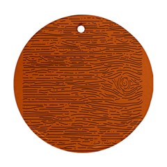 Illustration Orange Grains Line Round Ornament (Two Sides)