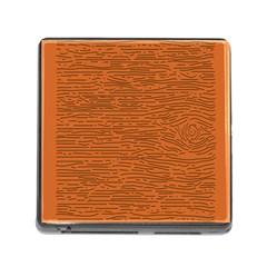 Illustration Orange Grains Line Memory Card Reader (Square)
