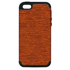 Illustration Orange Grains Line Apple iPhone 5 Hardshell Case (PC+Silicone)