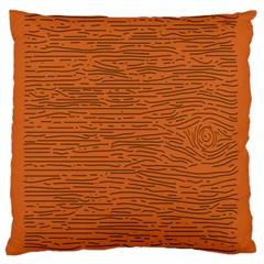 Illustration Orange Grains Line Standard Flano Cushion Case (One Side)