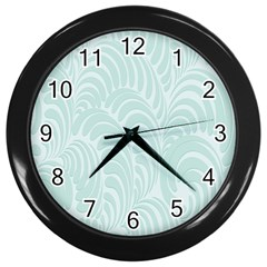 Leaf Blue Wall Clocks (black)