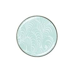 Leaf Blue Hat Clip Ball Marker