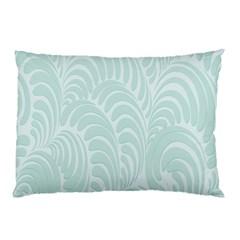 Leaf Blue Pillow Case