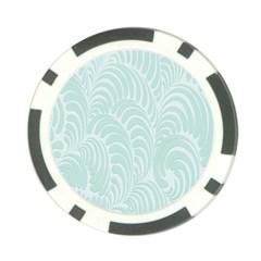 Leaf Blue Poker Chip Card Guard (10 pack)