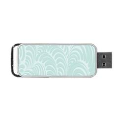 Leaf Blue Portable USB Flash (One Side)