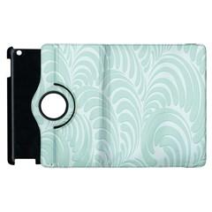 Leaf Blue Apple iPad 3/4 Flip 360 Case