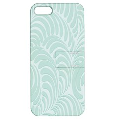 Leaf Blue Apple iPhone 5 Hardshell Case with Stand