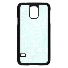 Leaf Blue Samsung Galaxy S5 Case (Black)