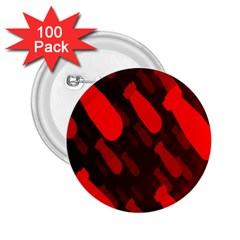 Missile Rockets Red 2 25  Buttons (100 Pack)