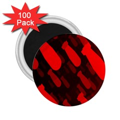 Missile Rockets Red 2 25  Magnets (100 Pack)
