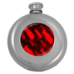 Missile Rockets Red Round Hip Flask (5 oz)
