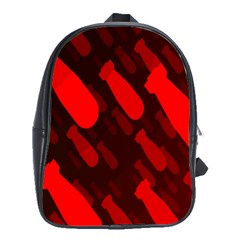 Missile Rockets Red School Bags(Large)