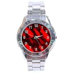 Missile Rockets Red Stainless Steel Analogue Watch