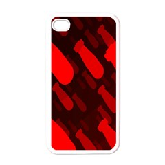 Missile Rockets Red Apple iPhone 4 Case (White)