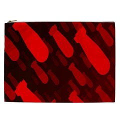 Missile Rockets Red Cosmetic Bag (XXL)