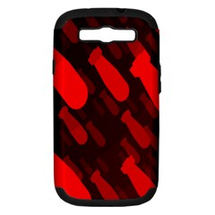 Missile Rockets Red Samsung Galaxy S Iii Hardshell Case (pc+silicone)