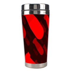 Missile Rockets Red Stainless Steel Travel Tumblers