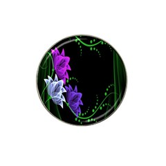 Neon Flowers Floral Rose Light Green Purple White Pink Sexy Hat Clip Ball Marker (10 pack)