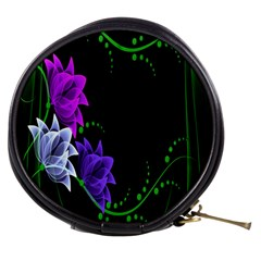 Neon Flowers Floral Rose Light Green Purple White Pink Sexy Mini Makeup Bags