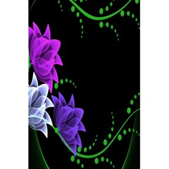 Neon Flowers Floral Rose Light Green Purple White Pink Sexy 5.5  x 8.5  Notebooks