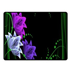 Neon Flowers Floral Rose Light Green Purple White Pink Sexy Fleece Blanket (Small)