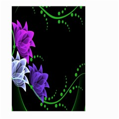 Neon Flowers Floral Rose Light Green Purple White Pink Sexy Large Garden Flag (Two Sides)