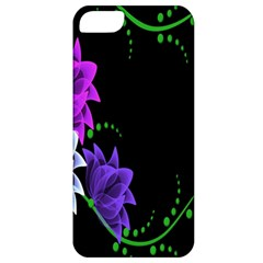 Neon Flowers Floral Rose Light Green Purple White Pink Sexy Apple iPhone 5 Classic Hardshell Case