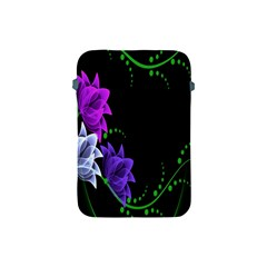 Neon Flowers Floral Rose Light Green Purple White Pink Sexy Apple iPad Mini Protective Soft Cases