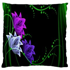 Neon Flowers Floral Rose Light Green Purple White Pink Sexy Standard Flano Cushion Case (One Side)