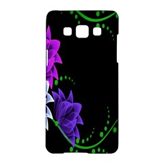 Neon Flowers Floral Rose Light Green Purple White Pink Sexy Samsung Galaxy A5 Hardshell Case