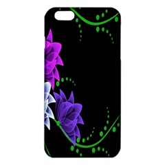 Neon Flowers Floral Rose Light Green Purple White Pink Sexy iPhone 6 Plus/6S Plus TPU Case