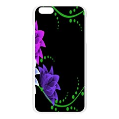 Neon Flowers Floral Rose Light Green Purple White Pink Sexy Apple Seamless iPhone 6 Plus/6S Plus Case (Transparent)