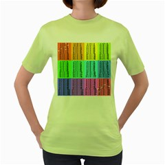 Multiplication Printable Table Color Rainbow Women s Green T-Shirt