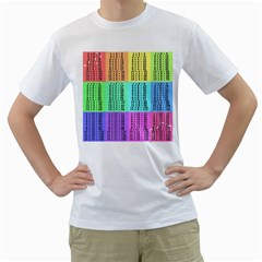 Multiplication Printable Table Color Rainbow Men s T-Shirt (White) (Two Sided)