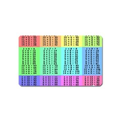 Multiplication Printable Table Color Rainbow Magnet (Name Card)