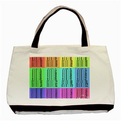 Multiplication Printable Table Color Rainbow Basic Tote Bag
