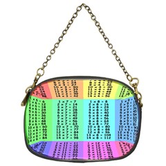 Multiplication Printable Table Color Rainbow Chain Purses (One Side)