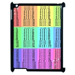 Multiplication Printable Table Color Rainbow Apple iPad 2 Case (Black)