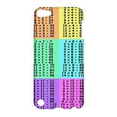 Multiplication Printable Table Color Rainbow Apple iPod Touch 5 Hardshell Case