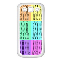 Multiplication Printable Table Color Rainbow Samsung Galaxy S3 Back Case (White)