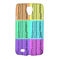 Multiplication Printable Table Color Rainbow Galaxy S4 Active