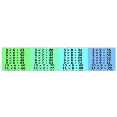 Multiplication Printable Table Color Rainbow Flano Scarf (Small)