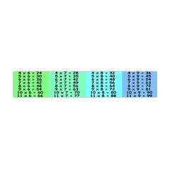 Multiplication Printable Table Color Rainbow Flano Scarf (Mini)