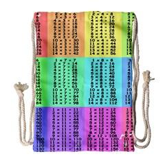 Multiplication Printable Table Color Rainbow Drawstring Bag (Large)