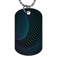 Line Light Blue Green Purple Circle Hole Wave Waves Dog Tag (Two Sides)
