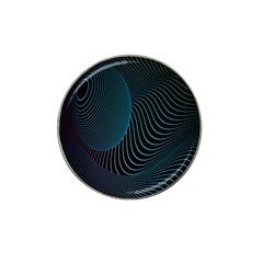 Line Light Blue Green Purple Circle Hole Wave Waves Hat Clip Ball Marker (10 pack)